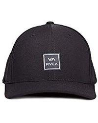 Lyst - RVCA Warner Flexfit Hat in Black for Men 46d33c34fcc5
