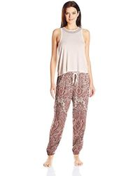 Lucky Brand - Embroidered Tank Pajama Set - Lyst