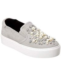 Kenneth Cole - Ashby Pearl Platform Slip-on Sneaker With Faux Jewels - Lyst