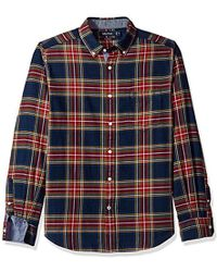 96322372c5 Lyst - Nautica Long Sleeve Plaid Cozy Flannel Button Down Shirt ...