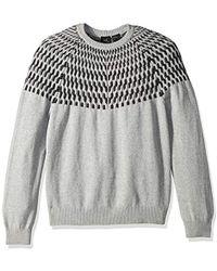 Armani Exchange | Cble Print Sweter - Black