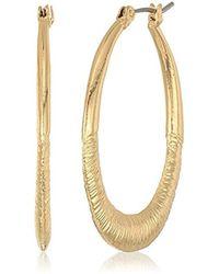 Nine West - Gold-tone Large Tear Drop Earrings - Lyst