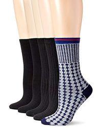 Anne Klein - Lovely Lady Patterned Crew Socks 5-pack - Lyst
