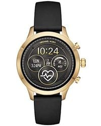 b48474f39c57 Lyst - Michael Kors 43mm Access Bradshaw Rose Goldtone Smartwatch