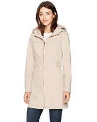 Via Spiga - Zip Front Hooded Walker Coat With Leopard Fleece Lining - Lyst