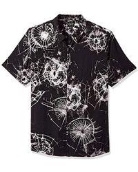 Guess - Short Sleeve Shattered Glass Print Shirt - Lyst