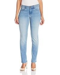 NYDJ - Petite Size Sheri Slim Jeans In Cool Embrace Denim - Lyst
