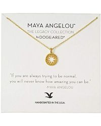 Dogeared - Maya Angelou If You Are Always Trying To Be Normal Cutout Sun Disc Charm Pendant Necklace - Lyst