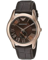 7879c081a Emporio Armani Ar5995 Sport Brown Leather Watch in Metallic for Men - Lyst