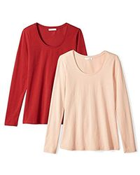 Daily Ritual - Stretch Supima Long-sleeve Scoop Neck T-shirt - Lyst