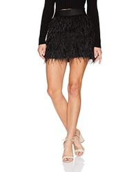 5c4995f68b Vince Feather Leather Pleated Skirt in Black - Lyst