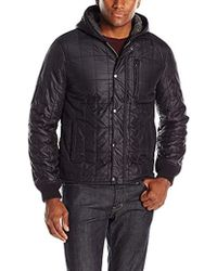 John Varvatos - Quilted Hooded Jacket - Lyst