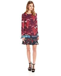 Clover Canyon - Sportswear Floral Mist Long-sleeve Printed Dress - Lyst