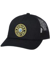 140a3c17 Nixon Uss Trucker Hat in Black - Lyst