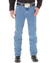 45dcadbe Wrangler Premium Performance Advanced Comfort Cowboy Cut Slim Fit Jeans in  Blue for Men - Save 23% - Lyst