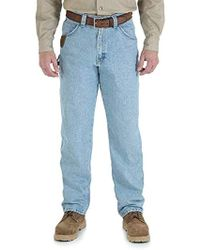 83d14a92 Wrangler RIGGS Workwear Relaxed-fit Jean in Blue for Men - Save 6% - Lyst