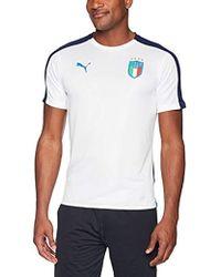 PUMA - Figc Italia Stadium Jersey Short Sleeve - Lyst