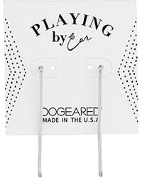 Dogeared - S Playing By Ear, Rectangular Hoop Earrings - Lyst