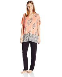 Ellen Tracy - Caftan Top Pajama Set Rayon Spandex - Lyst