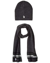 U.S. POLO ASSN. - Mini Winter Beanie And Scarf Set - Lyst