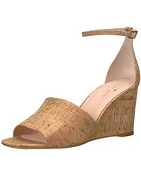 3573fa4806b Lyst - Kate Spade Wedge Sandals Donna T Strap in Pink