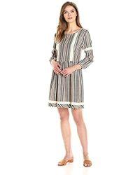 cd240f30bf2e Ella Moon - Abbie 3 4 Sleeve Striped Jacquard Dropwaist Dress - Lyst