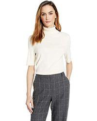 eeb975eca997c Anne Klein - Half Sleeve Turtleneck Sweater - Lyst