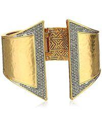 House of Harlow 1960 - Golden Scutum Hinge Cuff Bracelet - Lyst