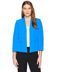 Kasper - Solid Stretch Crepe Kellie Jacket With Pockets - Lyst