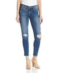 PAIGE - Skyline Ankle Peg Jeans Henley Distressed - Lyst
