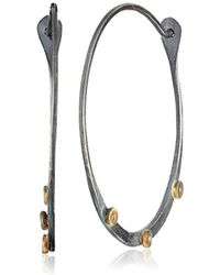 Melissa Joy Manning - Tiny Constellations Mixed Metal Extra Large Hoop Earrings With Diamonds - Lyst