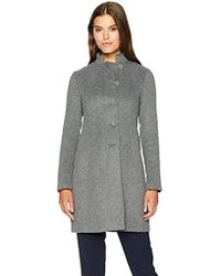 Armani Jeans - Mock Collar Felt Wool Coat - Lyst
