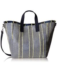 c17b9a559a Steve Madden - Rumi Multi Colored Woven Geomtric Pattern Beach Tote With  Zipper Pouch - Lyst