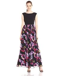 Aidan By Aidan Mattox - Cap Sleeve Top Prom Dress With Ball Gown Skirt - Lyst