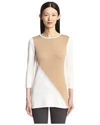 SOCIETY NEW YORK - Color Blocked Tunic Sweater - Lyst