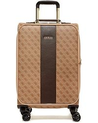 """Guess - Nissana 20"""" Spinner 8-wheeler Brown With Gold Hardware - Lyst"""