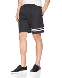 """Lacoste - 8"""" Woven Short With Double Stripe Detail, Gh3376 - Lyst"""