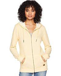 Roxy - Trippin Zip Up Fleece Sweatshirt - Lyst