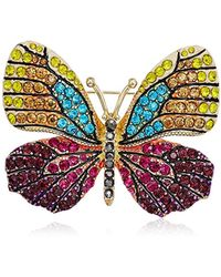 Napier - Multi-tone Butterfly Brooch Pin - Lyst