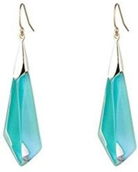 Alexis Bittar - Faceted Wire Deep Lilac Drop Earrings - Lyst