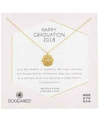 Dogeared - S Gold Grad 2018 Chain Necklace, 16 - Lyst