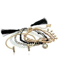Guess - 6 Pc Bracelet Set With Stones, Gold, One Size - Lyst