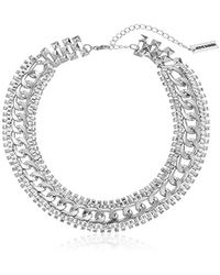 Steve Madden - Rhinestone Chain-link Necklace - Lyst