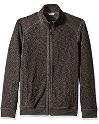 Calvin Klein - Jaquard Fabric Blocked Long Sleeve Full Zip Knit - Lyst