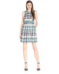 Donna Morgan - Elastic-waist Wide-pleat Dress - Lyst