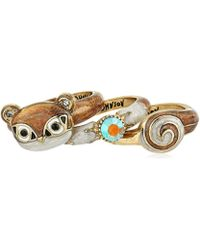 Betsey Johnson - Mini Critters Brown Squirrel Stackable Ring, Size 7.5 - Lyst