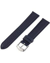 Michele - Ms18aa370494 18mm Leather Calfskin Blue Watch Strap - Lyst