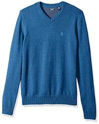 Izod - 7gg Single Dye V-neck Sweater - Lyst