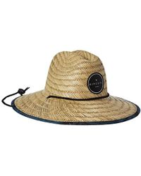 90e6455349cd9 Lyst - Rip Curl Paradise Straw Lifeguard Sun Hat in Natural for Men