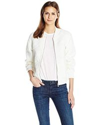 French Connection - Hoffman Stitch Bomber Jacket - Lyst